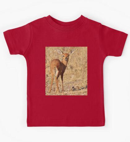 Steenbok - Shy and Elusive Beauty - Cute African Wildlife Kids Tee