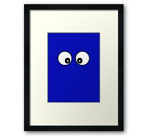 Cartoon Eyes Phone Cover Framed Print