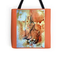 Barefoot in the rain Tote Bag
