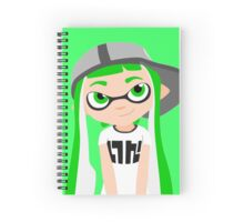 Splatoon - Inkling girl Green HD (Actualized 08/13/2016) Spiral Notebook
