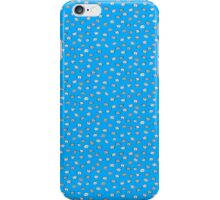 Blue catface cat illustration iPhone Case/Skin