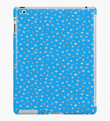 Blue catface cat illustration iPad Case/Skin