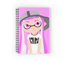 Splatoon - Inkling girl Pink HD (Actualized 08/13/2016) Spiral Notebook