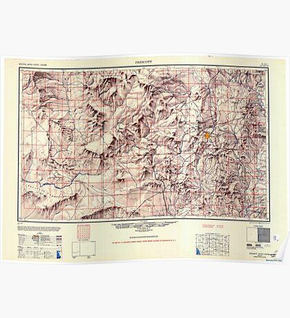 USGS TOPO Map Arizona AZ Prescott 707531 1950 250000 Poster