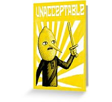 Unacceptable, 2014 Greeting Card