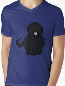 Black Briard - Yes, I have eyes Mens V-Neck T-Shirt