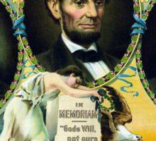 Garfield, Lincoln, and McKinley -- In Memoriam  Sticker