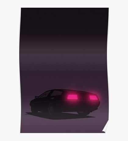 DeLorean tail lights (Violet) Poster