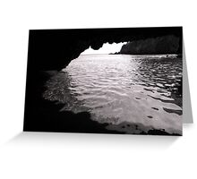 Sea Cave Greeting Card