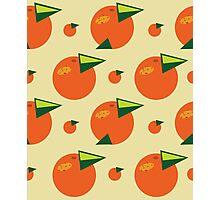 orange pattern Photographic Print