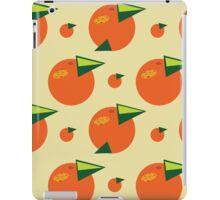 orange pattern iPad Case/Skin