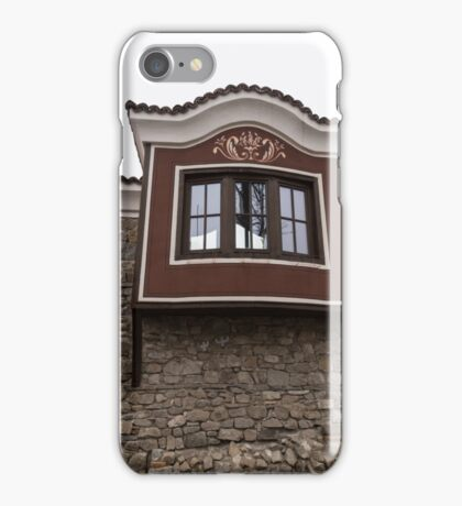 Unexpected Feature - Oriel Window on a High Stone Wall iPhone Case/Skin