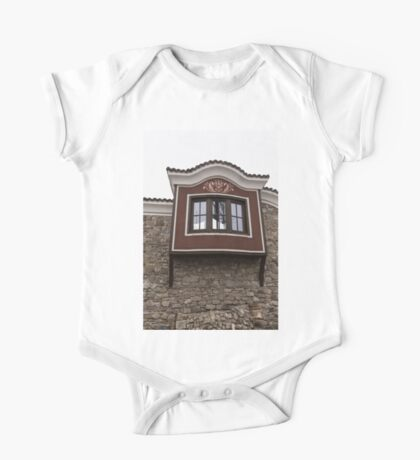 Unexpected Feature - Oriel Window on a High Stone Wall One Piece - Short Sleeve