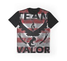 Team Valor Red full Stripes Graphic T-Shirt