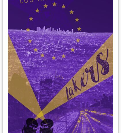 Lakers Poster Sticker