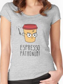 Harry Potter - Espresso Patronum  Women's Fitted Scoop T-Shirt