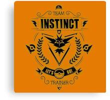 Team Instinct Trainer Lets Go Canvas Print