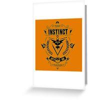 Team Instinct Trainer Lets Go Greeting Card
