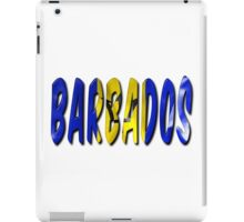 Barbados Word With Flag Texture iPad Case/Skin