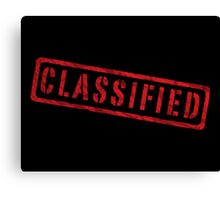 Classified Canvas Print