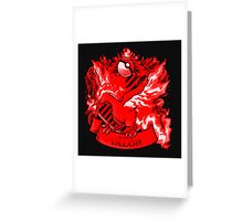 Team Valor Red Squad 0001 Greeting Card