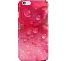 wet pink poppy iPhone Case/Skin