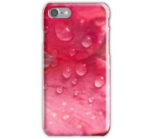 wet pink poppy iPhone Case/Skin