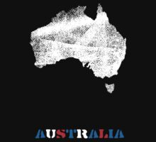Australia map by vinainna