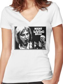 Night of the Living Dead! Women's Fitted V-Neck T-Shirt