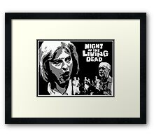 Theresa May  & Jeremy Corbyn  are Night of the Living Dead! Framed Print