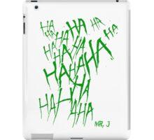 JOKER LAUGH (GREEN) TATTOO iPad Case/Skin