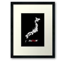 Japan map Framed Print