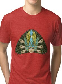 Peacock warrior Tri-blend T-Shirt
