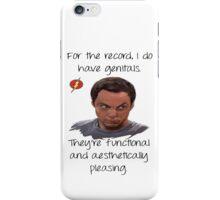 Sheldon genitals... iPhone Case/Skin