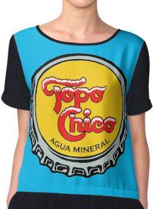 Topo Chico T-Shirt Print Women's Chiffon Top