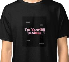PINK THE VAMPIRE DIARIES LOGO + names Classic T-Shirt