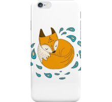 Sleepy fox iPhone Case/Skin