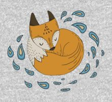 Sleepy fox One Piece - Short Sleeve