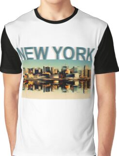 Vintage Manhattan Skyline, New York City - T-Shirt design Graphic T-Shirt