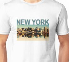 Vintage Manhattan Skyline, New York City - T-Shirt design Unisex T-Shirt