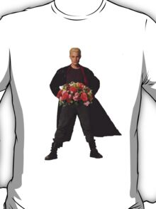 the big bad's back, and hes got flowers! T-Shirt