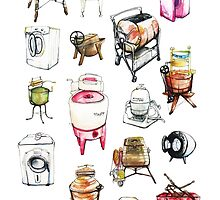 Washing machines by Rebecca Landmér