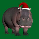 Hippo In Christmas Mood by Mythos57