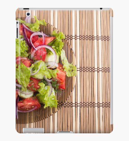 Top view of vegetarian salad from fresh vegetables iPad Case/Skin