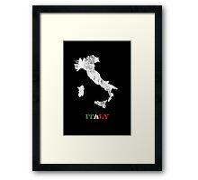 Italy map Framed Print