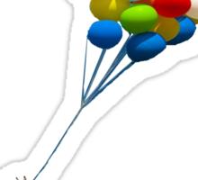 bellatrix with balloons Sticker