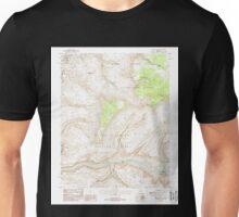 USGS TOPO Map Arizona AZ Fishtail Mesa 311324 1988 24000 Unisex T-Shirt