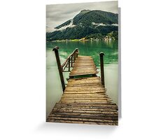 Pontoon by the fjord Greeting Card