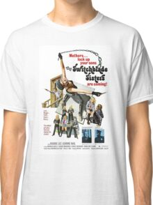 Switchblade Sisters Alt 2 (Blue) Classic T-Shirt