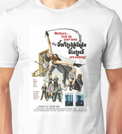 Switchblade Sisters Alt 2 (Red) Unisex T-Shirt